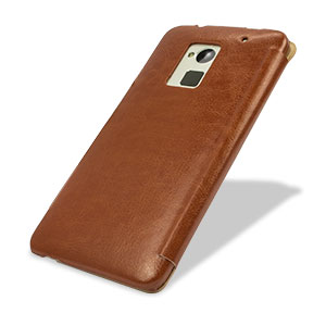 Leather Style Flip Case for HTC One Max - Brown