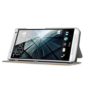 Verticle Flip Book-Style Case for HTC One Max - Brown