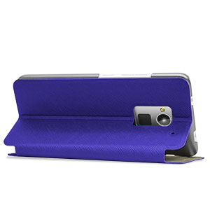 Verticle Flip Book-Style Case for HTC One Max - Blue