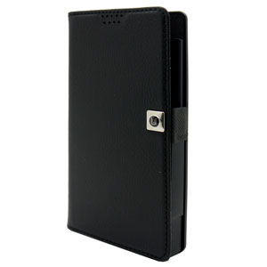 Uunique Universal Large Slider Folio Wallet Case - Black