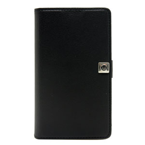 Uunique Universal Medium Slider Folio Wallet Case - Black
