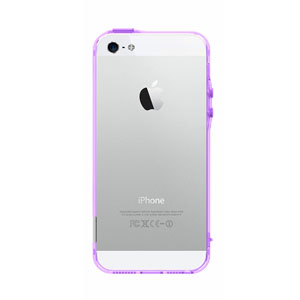 Pinlo BLADEdge Bumper Case for iPhone 5S / 5 - Transparent Purple