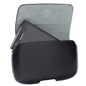 Krusell Hector XL Leather Pouch Case - Black