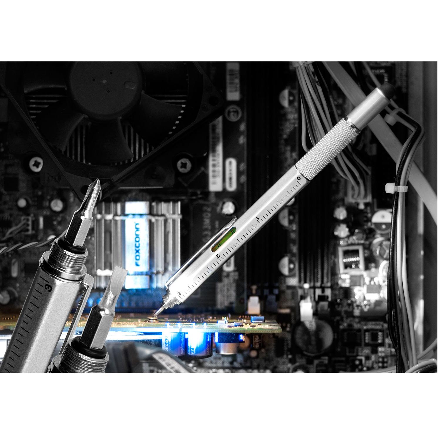 Olixar HexStyli 6 in 1 Stylus Pen - Silver