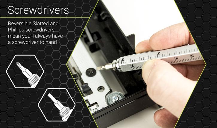 Olixar HexStyli 6-in-1 Stylus Pen - Silver
