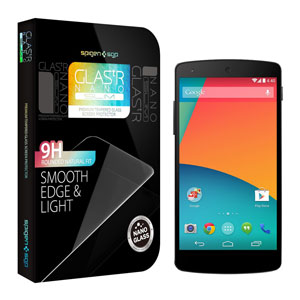 Spigen GLAS.tR Nano SLIM Tempered Glass Screen Protector for Nexus 5