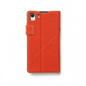 Zenus Diary Stand Case for Xperia Z1 - Orange