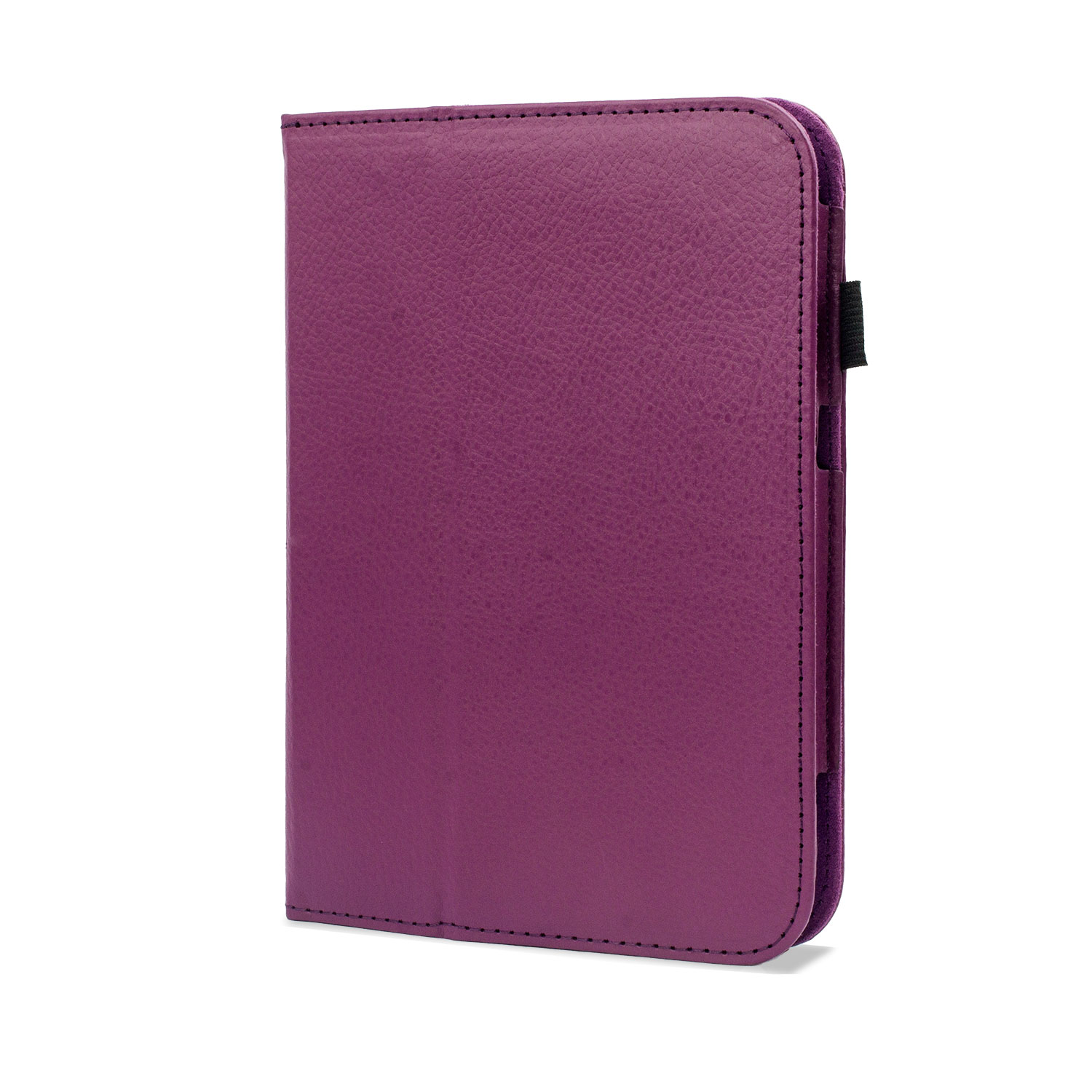 Folio Leather Case with Stand and Hand Grip for Tesco Hudl - Purple