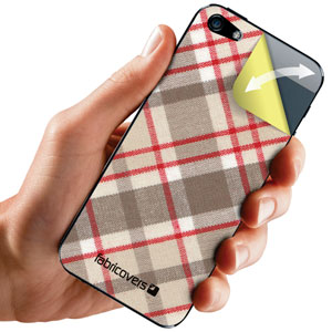 Fabricovers 100% Cotton Skins for iPhone 5S / 5 - Gebera A88