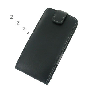 PDair Leather Book Case for LG G2 - Black