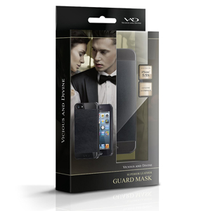 VAD Superior Leather Guard Mask for iPhone 5S /  5 - Black