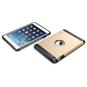 Spigen SGP Tough Armor Case for iPad Mini 2 - Champagne Gold