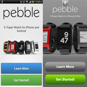 Smartwatch Pebble pour iOS et Android – Orange