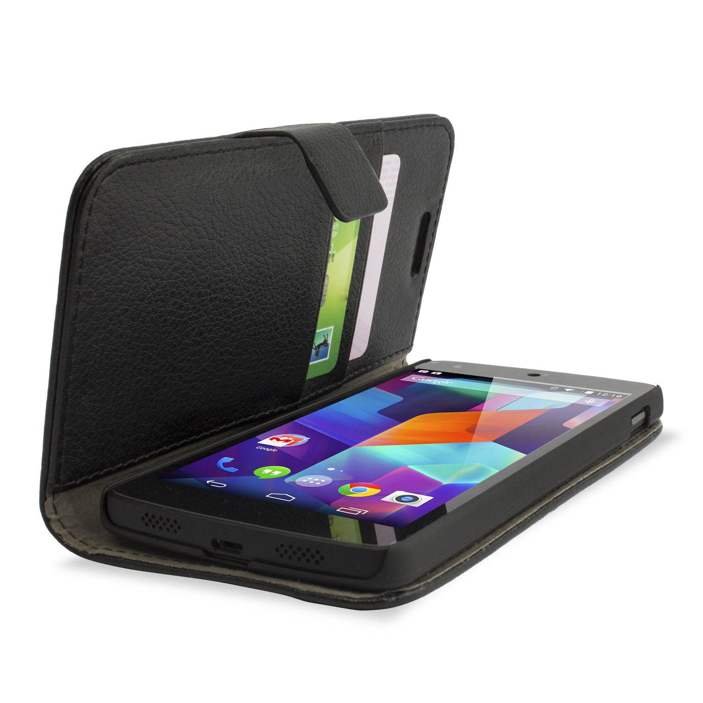 more photos 9f2de abe9f Adarga Leather Style Wallet Stand Case for Google Nexus 5 - Black