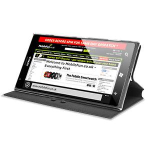 Capdase Sider Baco Folder Case for Nokia Lumia 1520 - Black / Clear