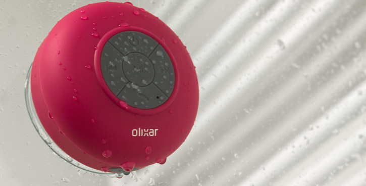 Olixar AquaFonik Bluetooth Shower Speaker - Pink