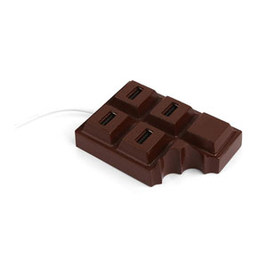 Kikkerland Chocolate 4 Port USB Hub