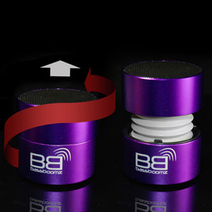BaseBoomz Portable Bluetooth Speaker - Purple