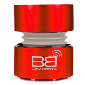 BaseBoomz Portable Bluetooth Speaker - Red