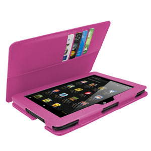 Folio Leather-Style Stand Case for Kindle Fire HDX 7 - Pink