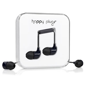 Happy Plugs In-Ear Earphones with Hands Free Microphone - Black