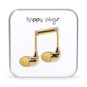 Auriculares Happy Plugs In-Ear Edición Deluxe - Oro