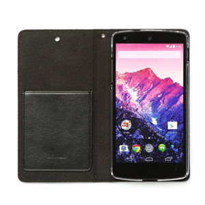 Zenus Lettering Diary Case for Google Nexus 5 - Black