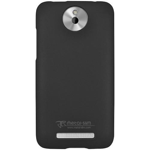 Metal-Slim Protective Rubber Case for HTC Desire 501 - Black