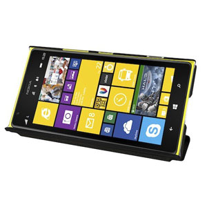 Metal-Slim UV Protective Flip Case for Nokia Lumia 1520 - Black