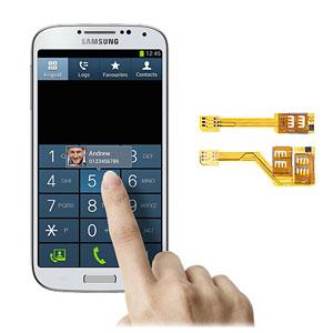 Dual SIM Card Adapter for Samsung Galaxy S4