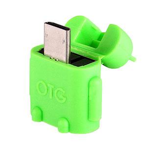 Adaptateur Robot Micro USB On-The-Go (OTG) - Vert