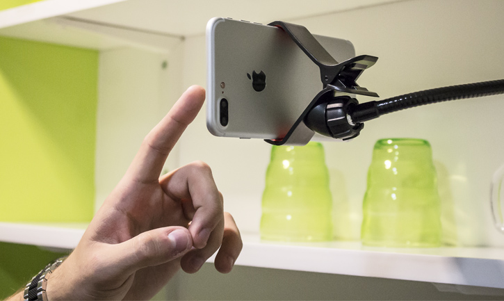 Universal Gooseneck Long Arm Clip-on Mount for Smartphones