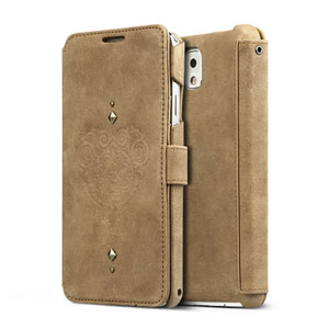 Zenus Vintage Leather Diary Case for Samsung Galaxy Note 3 - Brown