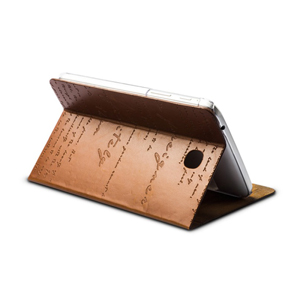 Zenus Lettering Diary Case for Samsung Galaxy Tab 3 7.0- Brown