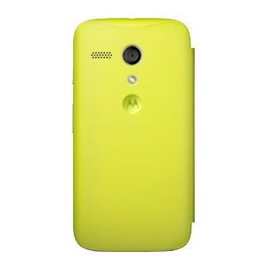 Official Motorola Moto G Flip Cover - Yellow