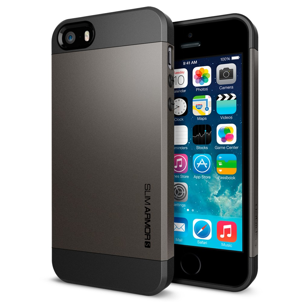 Slim Armor S View Case for iPhone 5 - Gun Metal