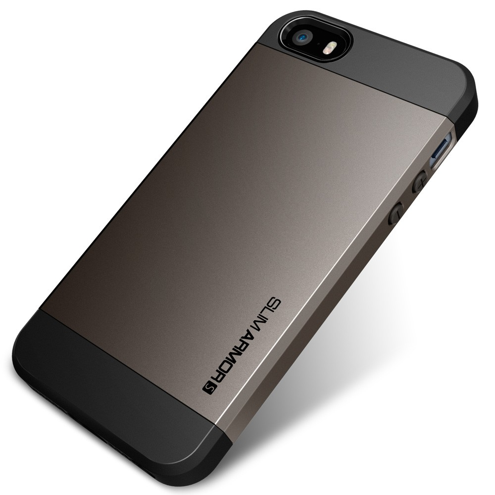 Slim Armor S Case for iPhone 5 - Gun Metal