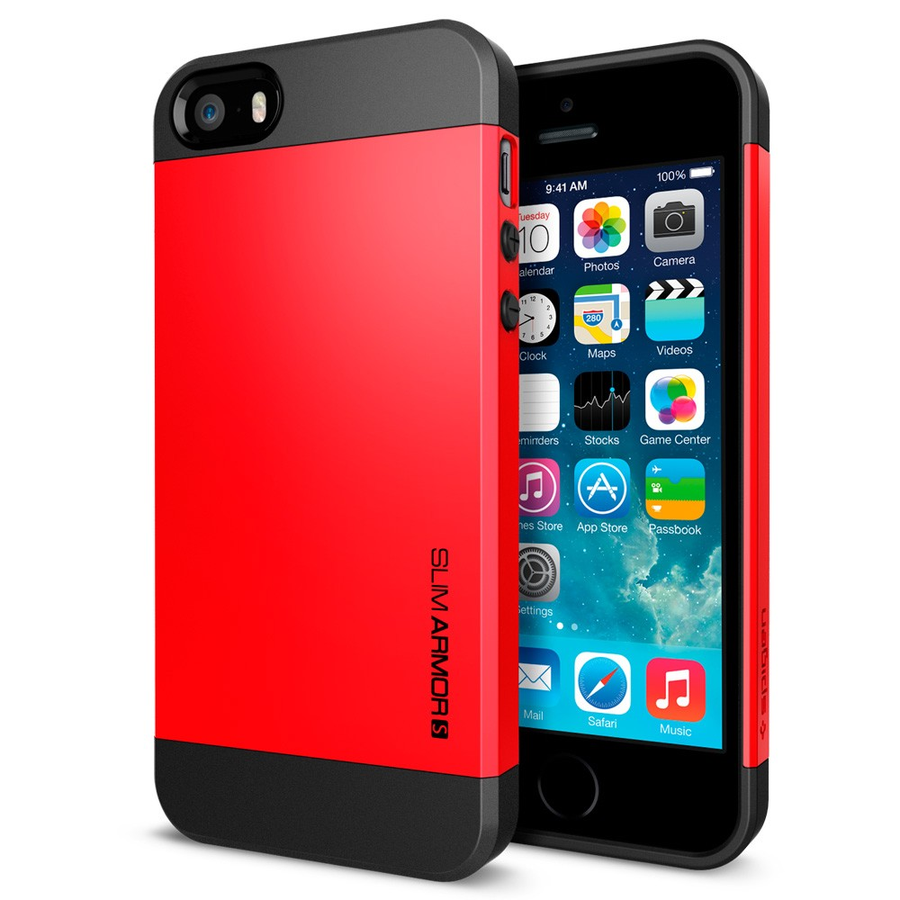 Slim Armor S View Case for iPhone 5 - Red