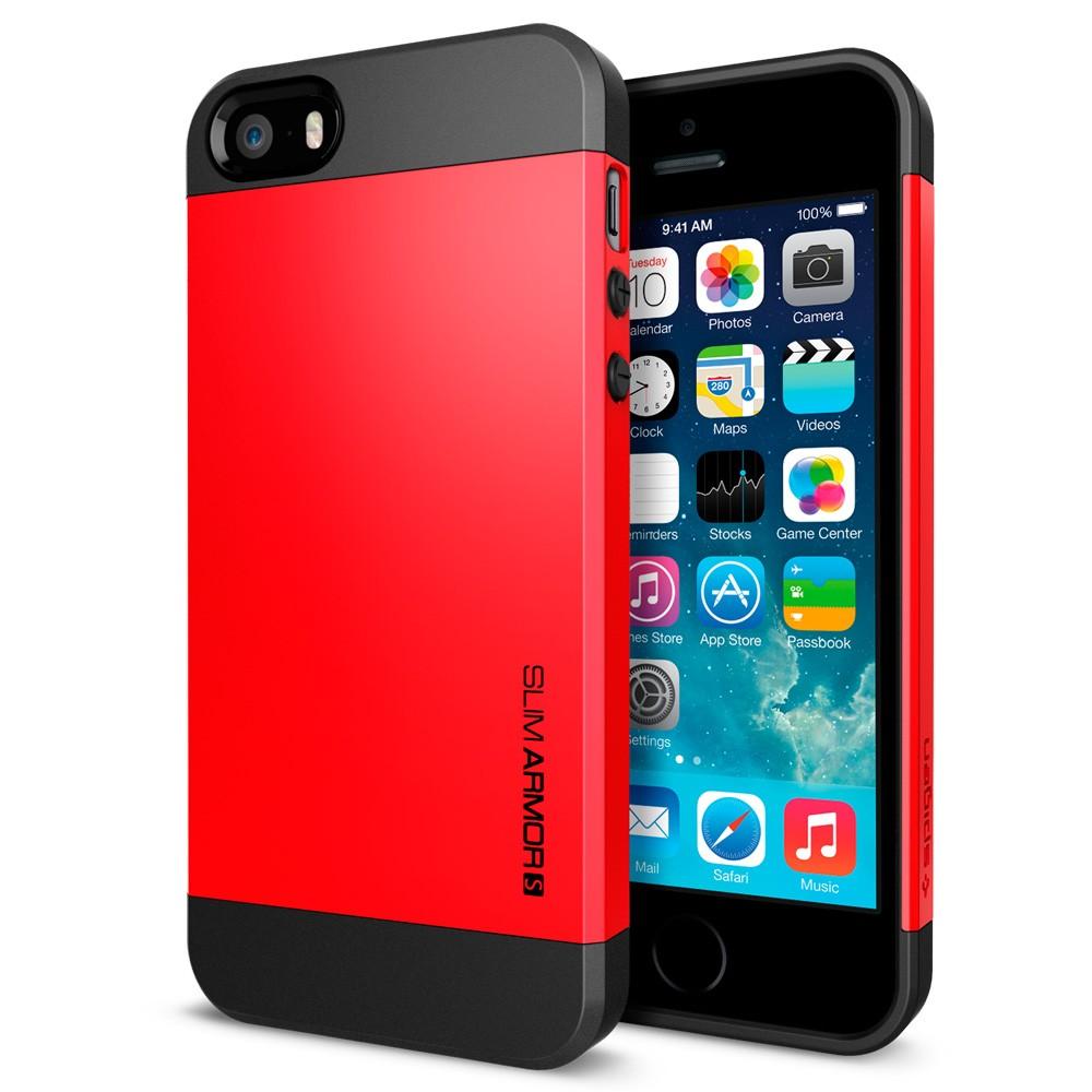 Coque iPhone 5S / 5 Spigen SGP Slim Armor S - Rouge