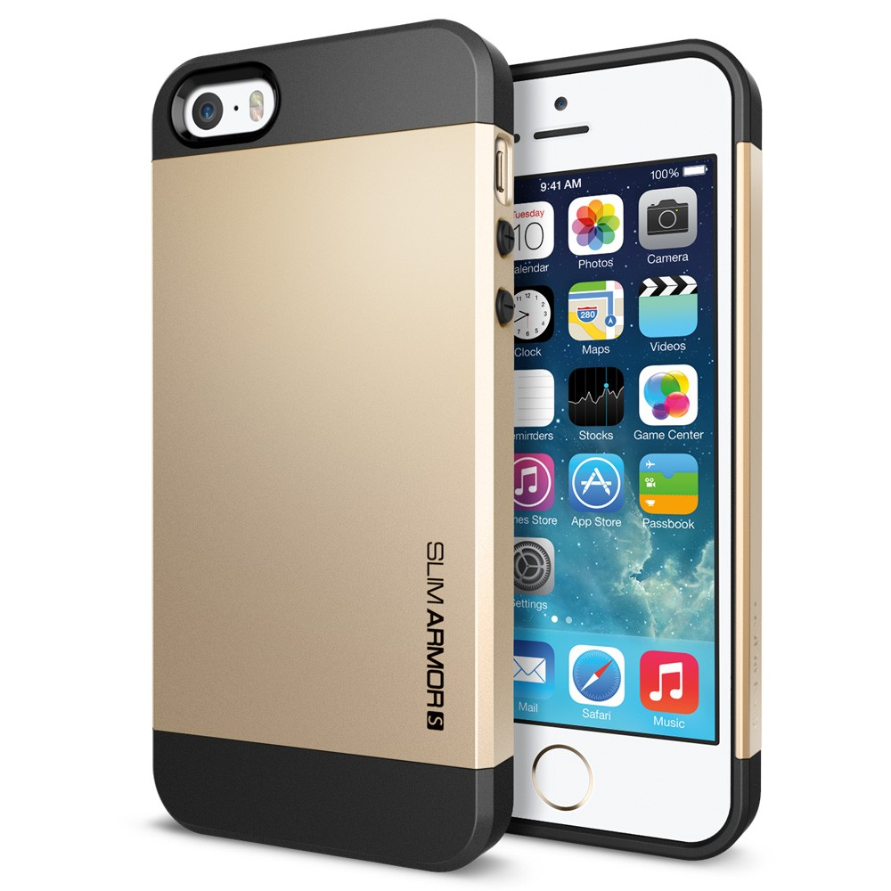 Slim Armor S View Case for iPhone 5 - Champagne Gold