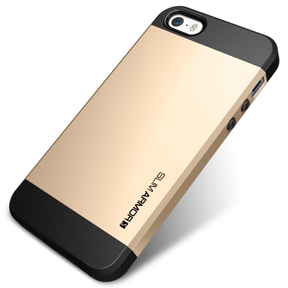 Spigen Slim Armor S Case For Iphone 5s 5 Champagne Gold Compact Car Charger