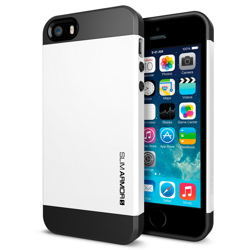 coque iphone 5s 5 spigen sgp slim armor s blanche. Black Bedroom Furniture Sets. Home Design Ideas