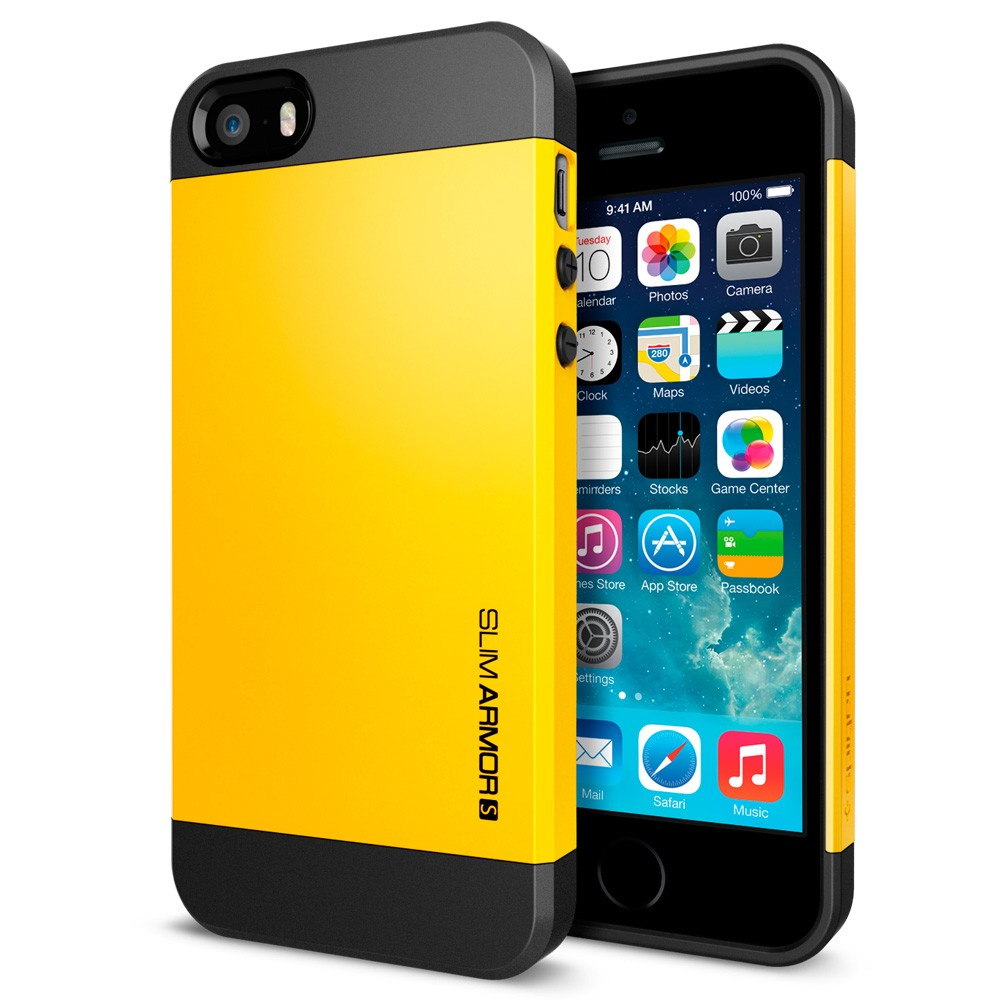 Spigen Slim Armor S Case For Iphone 5s 5 Yellow Compact Car Charger View
