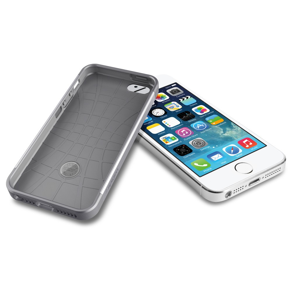 iphone 5s silver spigen slim armor s for iphone 5s 5 silver 11247