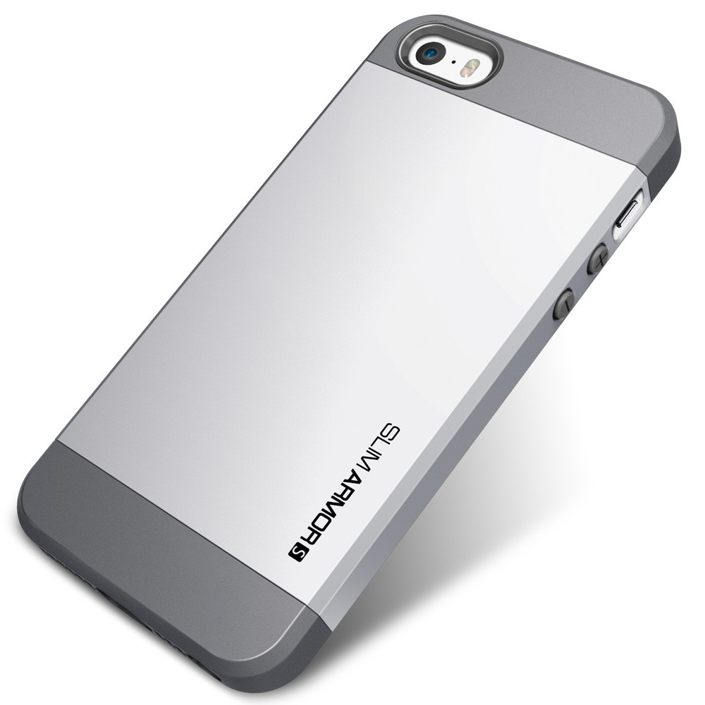 iphone 5 s cases spigen slim armor s for iphone 5s 5 silver 2423