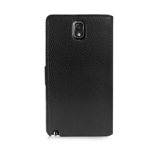 Orzly Mirror Wallet Case for Samsung Galaxy Note 3 - Black