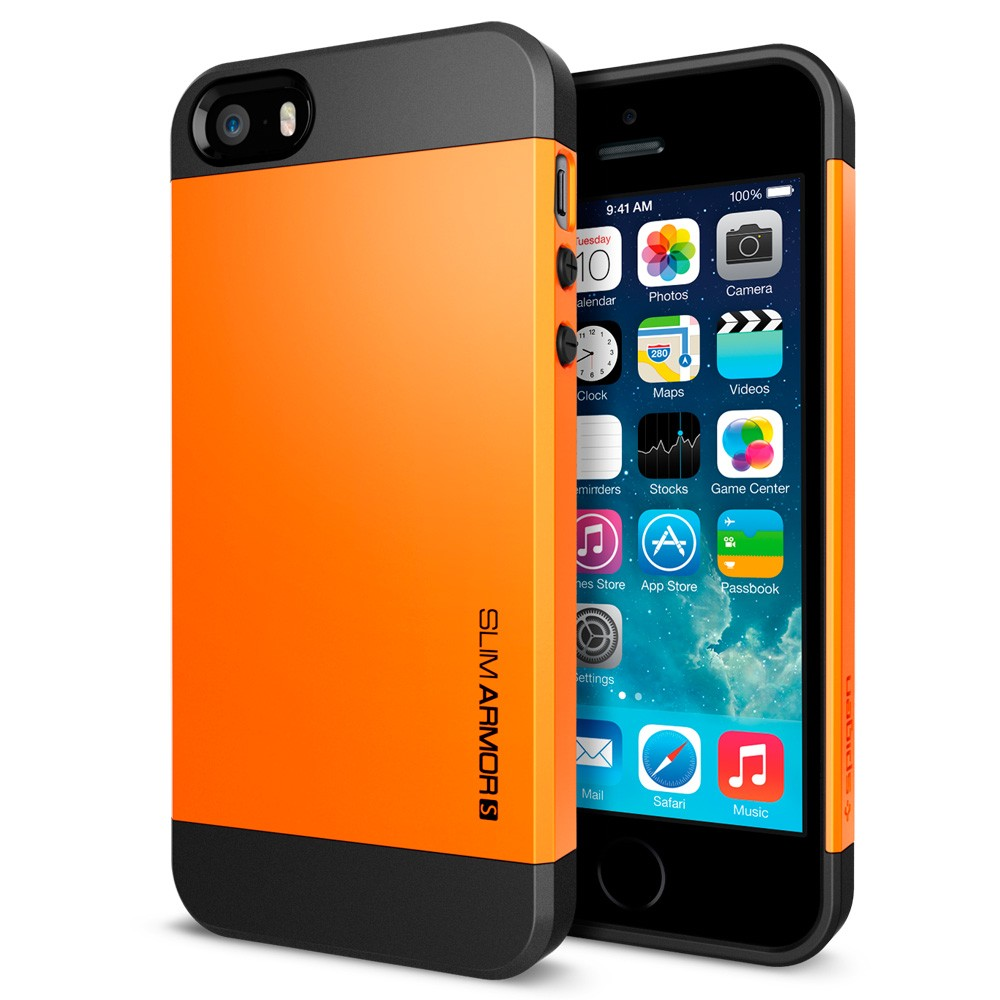 Slim Armor S View Case for iPhone 5 - Tangerine Tango