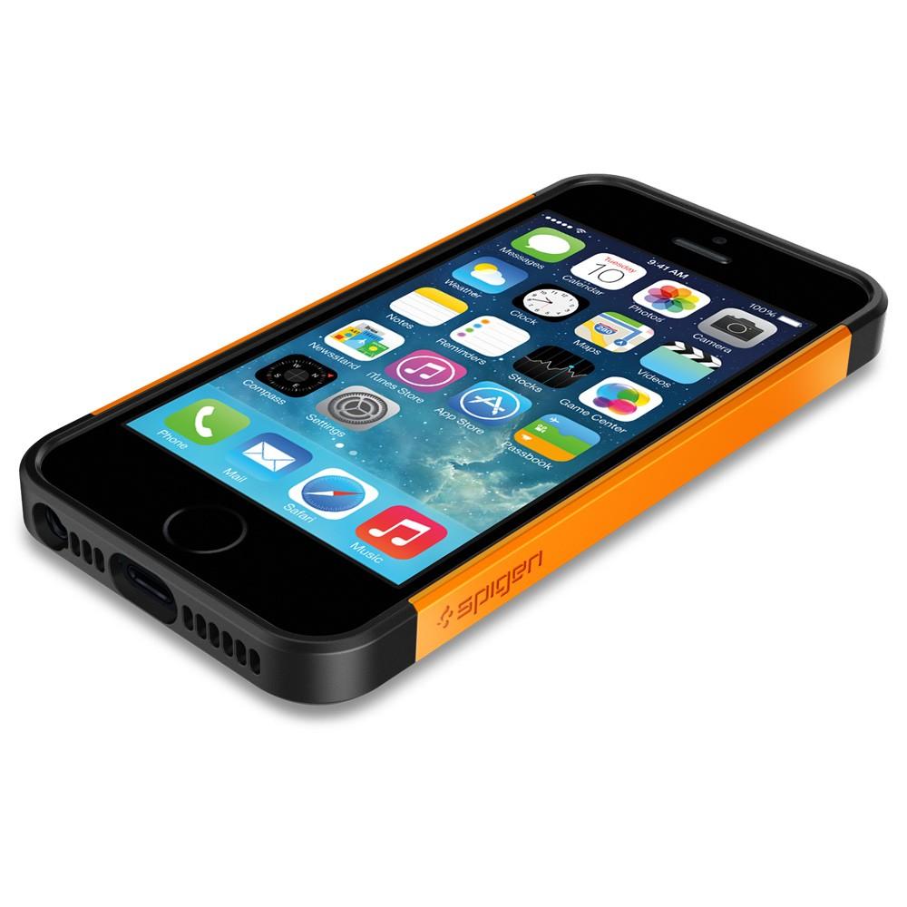 Spigen Slim Armor S Case for iPhone 5S / 5 - Tangerine Tango