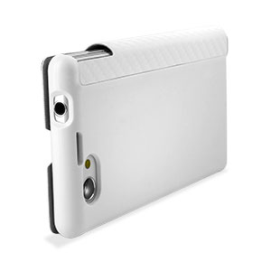 Roxfit Book Flip Case for Sony Xperia Z1 Compact - Carbon White