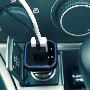 3.1A Dual USB 12-24V Universal Car Charger - Black